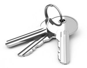 Schlüsselbund in silber